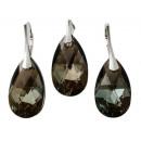Großhandel Schmuck & Uhren: Silber mit  Swarovski Pear  Bronze Shade ...