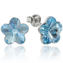 ingrosso Gioielli & Orologi: orecchini  d'argento con  Swarovski fiore ...