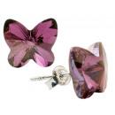 mayorista Joyas y relojes: pendientes de plata con swarovski mariposa ...