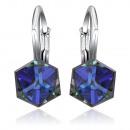 ingrosso Gioielli & Orologi: orecchini in argento con Swarovski Cubic ...