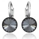 wholesale Jewelry & Watches: Silver earrings with swarovski Rivoli Silver Night
