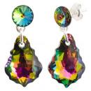 wholesale Jewelry & Watches: silver earrings  with swarovski riv. Baroq v Medium