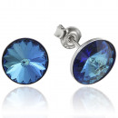wholesale Jewelry & Watches: Silver earrings with swarovski Rivoli Bermuda Blue