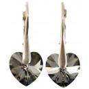 orecchini d'argento con swarovski Cuore Silver