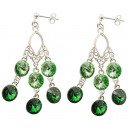 wholesale Jewelry & Watches: silver earrings  with swarovski Chandelier Moss P.
