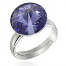 groothandel Sieraden & horloges: Zilveren Ring met  swarovski Rivoli Lavender