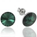 wholesale Jewelry & Watches: silver earrings with swarovski Rivoli Emerald