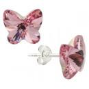 orecchini  d'argento con  swarovski Farfalla ...