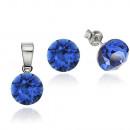 Großhandel Schmuck & Uhren: Silber mit  Swarovski-Xirius Blau Capri