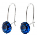 silver earrings with swarovski Xirius Blue Capri