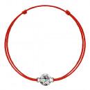 Großhandel Schmuck & Uhren: Kabbala-Armband  mit Silber Swarovski Charm