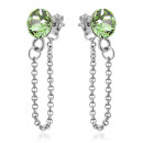 Silver Earrings with Swarovski Xirius Chain Perido
