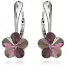 groothandel Sieraden & horloges: Zilveren oorbellen  met swarovski Flower LiliacShad