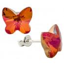 ingrosso Gioielli & Orologi: orecchini  d'argento con  swarovski farfalla ...