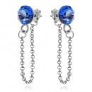 Großhandel Schmuck & Uhren: Silber Ohrringe  mit Swarovski Xirius Kette Capri