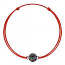 Kabbala-Armband mit Silber Swarovski Charm