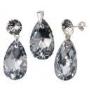 wholesale Jewelry & Watches: silver Set with  swarovski Xirius Pear CAL