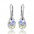 silver earrings with swarovski Pear AB