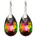 Großhandel Ohrringe: Silberohrringe mit  Swarovski Pear Vitrail Medium
