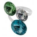 Zilveren ring met swarovski Tri Rivoli