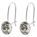 zilveren oorbellen met swarovski Xirius Clear