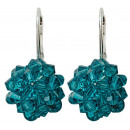 wholesale Jewelry & Watches: silver earrings with swarovski Sewed Blue Zircon