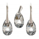 silver set with swarovski Pear CAL