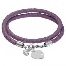 wholesale Jewelry & Watches: Leather Bracelate  With Swarovski & Silver Pendant