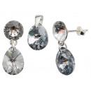 Großhandel Schmuck & Uhren: Silber mit swarovski Xirius MiniPear CAL Set