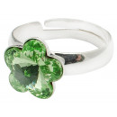 wholesale Jewelry & Watches: silver Ring with  swarovski Flower Peridot