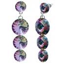 wholesale Jewelry & Watches: silver earrings  with swarovski Tripple Rivoli Ligh