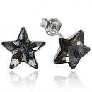groothandel Sieraden & horloges: zilveren oorbellen  met swarovski Star Silver Night