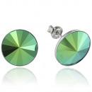 wholesale Jewelry & Watches: Silver earrings with swarovski Rivoli Scarabeus Gr