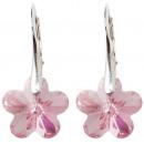 orecchini  d'argento con  Swarovski fiore ...