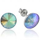 Großhandel Schmuck & Uhren: Silber-Ohrringe  mit swarovski Rivoli ParadiseShin