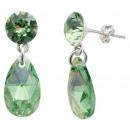 groothandel Sieraden & horloges: zilveren oorbellen  met swarovski Xirius Peer Perid