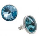 wholesale Jewelry & Watches: silver earrings with swarovski Rivoli Aquamarine