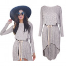 Frauen Kleid /  Tunika New Gebunden Grau