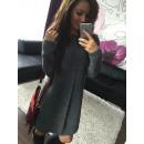 Damen Kleid  Pullover Tunika Graphite