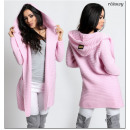 wholesale Pullover & Sweatshirts: Women's  Sweater. Cape. Hood SML Pink