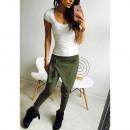 ingrosso Pantaloni: Pantalone donna cotone nuovo Khaki