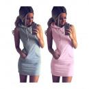 Großhandel Kleider: Sportlicher  Sommer-Kleid-Grau Neu