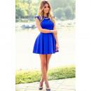 Blau abgefackelt Schloss Kleid