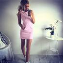 Großhandel Kleider: Sportliche -Sommer-Kleid-Rosa Nachrichten