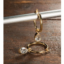 Großhandel Ohrringe: MELISSA Creolen,  Edelstahl vergoldet poliert