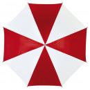 Großhandel Möbel: Automatischer  Stockschirm DISCO, rot, weiß