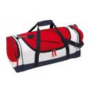 Großhandel Reise- und Sporttaschen: Sporttasche   Marina  blau, rot, weiß