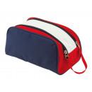 Großhandel Reiseartikel: Kulturtasche MARINA, blau, rot, weiß