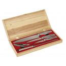 groothandel Messensets: Knife  Ensemble  zilver, hout