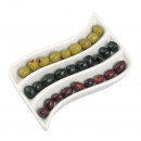 wholesale Crockery: Porcelain olive snack dish Adria , in the form o